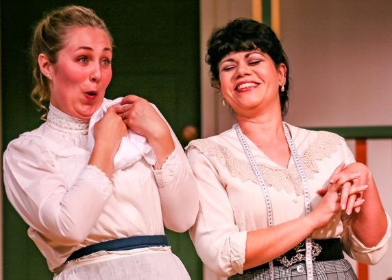 Cassie Jo Fastabend, and Deya Ozborn in The Underpants at Tacoma Little Theatre - Photo by Dennis K Photography - image.