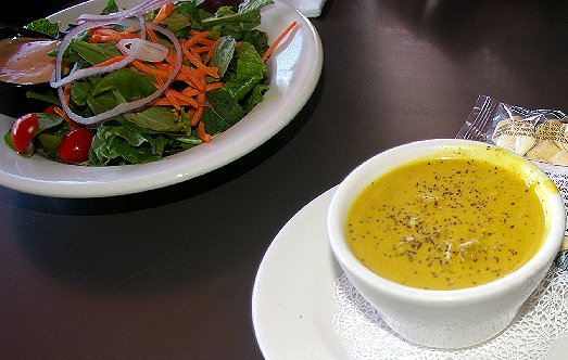 Salad and soup at the Top of Tacoma in Tacoma - image.