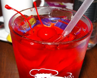 A two-cherry Shirley Temple.