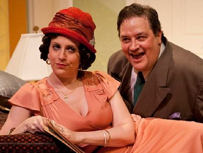 Alyson Soma and Chris Maxfield in the CenterStage production of Lend Me a Tenor.