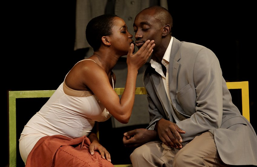 Nonhlanhla Kheswa and Ivanno Jeremiah in Peter Brook's The Suit. Photo: Pascal Victor, ArtcomArt.