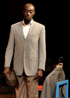 Ivanno Jeremiah, in Peter Brook's The Suit. Photo: Pascal Victor, ArtcomArt.