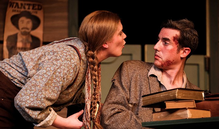Hallie (Jill Heinecke) & Foster (Jacob Tice) in The Man Who Shot Liberty Valance - Photo by DK Photography - Tacoma Little Theatre - image.