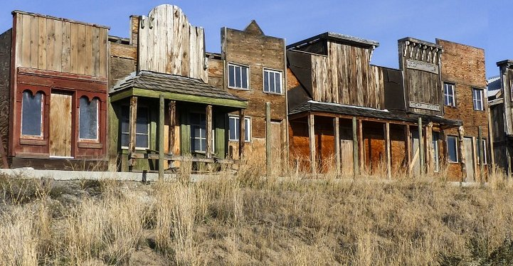 A ghost town of the old west. - image.