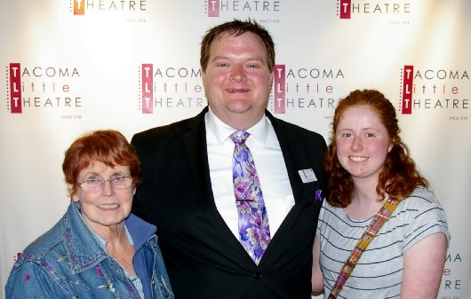 Peg Doman, Chris Serface, and Bailee Doman - Tacoma Little Theatre - image.