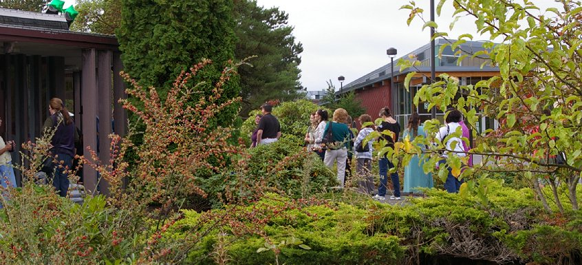 The lecture hall for Wicked Plants at Tacoma Community College in Tacoma, Washington.