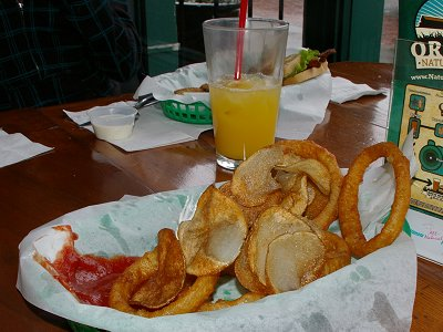 Onion rings and Spar Chips at The Spar Tavern - photo.