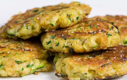 Salted zucchini cakes - image.